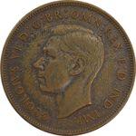 سکه 1 پنی 1937 جرج ششم - EF45 - انگلستان