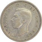 سکه 6 پنس 1939 جرج ششم - EF40 - انگلستان