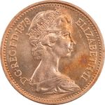 سکه 1 پنی 1979 الیزابت دوم - MS64 - انگلستان