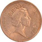 سکه 1 پنی 1985 الیزابت دوم - AU55 - انگلستان