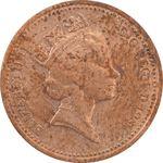 سکه 1 پنی 1987 الیزابت دوم - EF45 - انگلستان