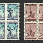 تمبر المپیک ۱۹۶۰ رم 1339 - محمدرضا شاه