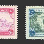 تمبر صدمین سال تاسیس تلگراف در ایران 1335 - محمدرضا شاه