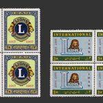 تمبر پنجاهمین سال باشگاه لاینز 1346 - محمدرضا شاه