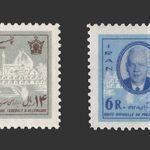 تمبر هاینریش لوبکه رئیس جمهوری آلمان 1342 - محمدرضا شاه