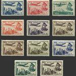تمبر سری پست هوایی 1332 - محمدرضا شاه