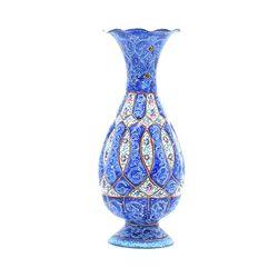 گلدان میناکاری طرح اسلیمی و ختایی - 15 سانتی