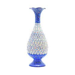 گلدان میناکاری طرح اسلیمی و ختایی - 25 سانتی