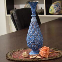 گلدان میناکاری طرح اسلیمی و ختایی - 30 سانتی در چیدمان