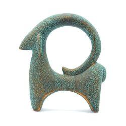 مجسمه سفالی پتینه مدل بز شوش