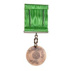 مدال برنز بپاداش خدمت (با جعبه) - UNC - رضا شاه