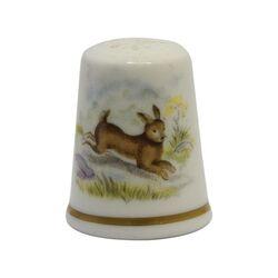 انگشتانه چینی قدیمی طرح خرگوش - کد 005790