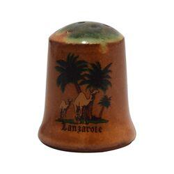انگشتانه سفالی قدیمی طرح جزیره لانزاروته - کد 005809