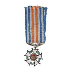نشان خدمت شهربانی (روبان فابریک) - EF45 - رضا شاه