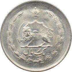 سکه 1 ریال دو تاج 1342 محمد رضا شاه پهلوی