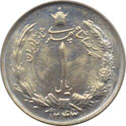 سکه 1 ریال دو تاج 1343 محمد رضا شاه پهلوی