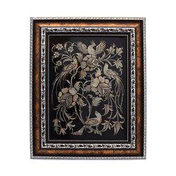 تابلو قلمزنی طرح گل و مرغ 53×43 سانتی