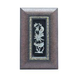 تابلو قلمزنی طرح گل و مرغ 24×39 سانتی