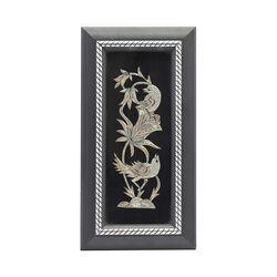 تابلو قلمزنی طرح گل و مرغ 31×16 سانتی