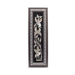 تابلو قلمزنی طرح گل و مرغ 52×17 سانتی