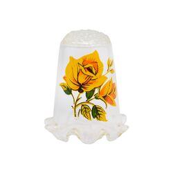 انگشتانه شیشه ای قدیمی با طرح گل  - کد 007063