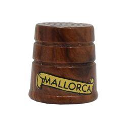 انگشتانه چوبی قدیمی با طرح مایورکا  - کد 007065