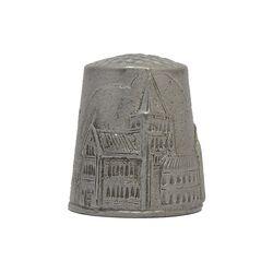 انگشتانه سربی قدیمی با طرح کلیسای جامع روچستر - کد 007067
