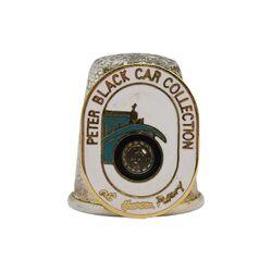 انگشتانه نقره قدیمی با طرح نمایشگاه ماشین پیتر بلک - کد 007079