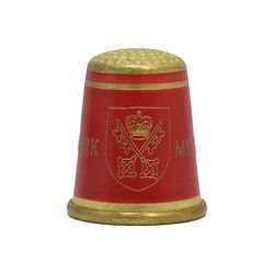 انگشتانه برنز قدیمی با نماد کلیساس یورک مینستر - کد 007089
