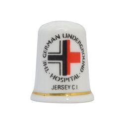 انگشتانه چینی قدیمی طرح بیمارستان زیرزمینی آلمان - کد 007041