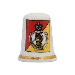 انگشتانه چینی قدیمی با طرح نماد RAC - کد 007054
