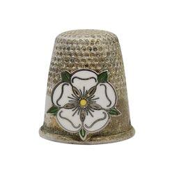 انگشتانه نقره قدیمی با طرح گل تودور رز - کد 007073