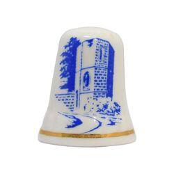 انگشتانه چینی قدیمی طرح قلعه - کد 007034