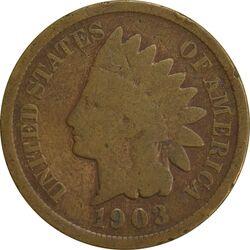 سکه 1 سنت 1903 سرخپوستی - F - آمریکا