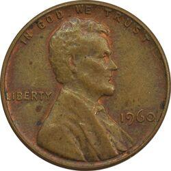 سکه 1 سنت 1960 لینکلن - AU - آمریکا