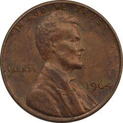 سکه 1 سنت 1964 لینکلن - AU - آمریکا