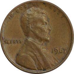 سکه 1 سنت 1967 لینکلن - EF40 - آمریکا
