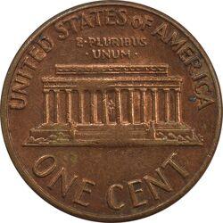 سکه 1 سنت 1969D لینکلن - AU - آمریکا