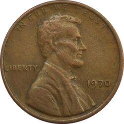 سکه 1 سنت 1970 لینکلن - EF - آمریکا