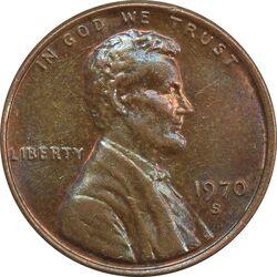 سکه 1 سنت 1970S لینکلن - MS61 - آمریکا