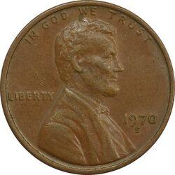 سکه 1 سنت 1970S لینکلن - EF45 - آمریکا