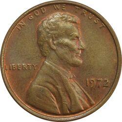سکه 1 سنت 1972 لینکلن - MS62 - آمریکا