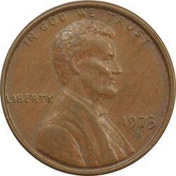 سکه 1 سنت 1973S لینکلن - EF45 - آمریکا