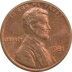 سکه 1 سنت 1981 لینکلن - MS61 - آمریکا