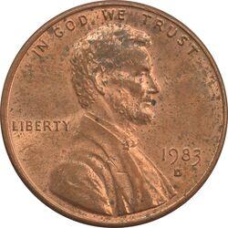 سکه 1 سنت 1983D لینکلن - MS62 - آمریکا