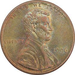 سکه 1 سنت 1996 لینکلن - MS63 - آمریکا