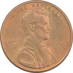 سکه 1 سنت 1997D لینکلن - AU - آمریکا