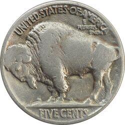سکه 5 سنت 1936 بوفالو - VF35 - آمریکا
