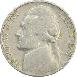 سکه 5 سنت 1961D جفرسون - VF30 - آمریکا