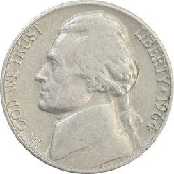 سکه 5 سنت 1964 جفرسون - VF35 - آمریکا